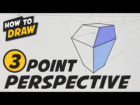 Three (3) Point Perspective - Simple Step By Step