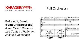 Karaoke opera: barcarolle - tales of hoffman (offenbach) version with mezzo soprano only