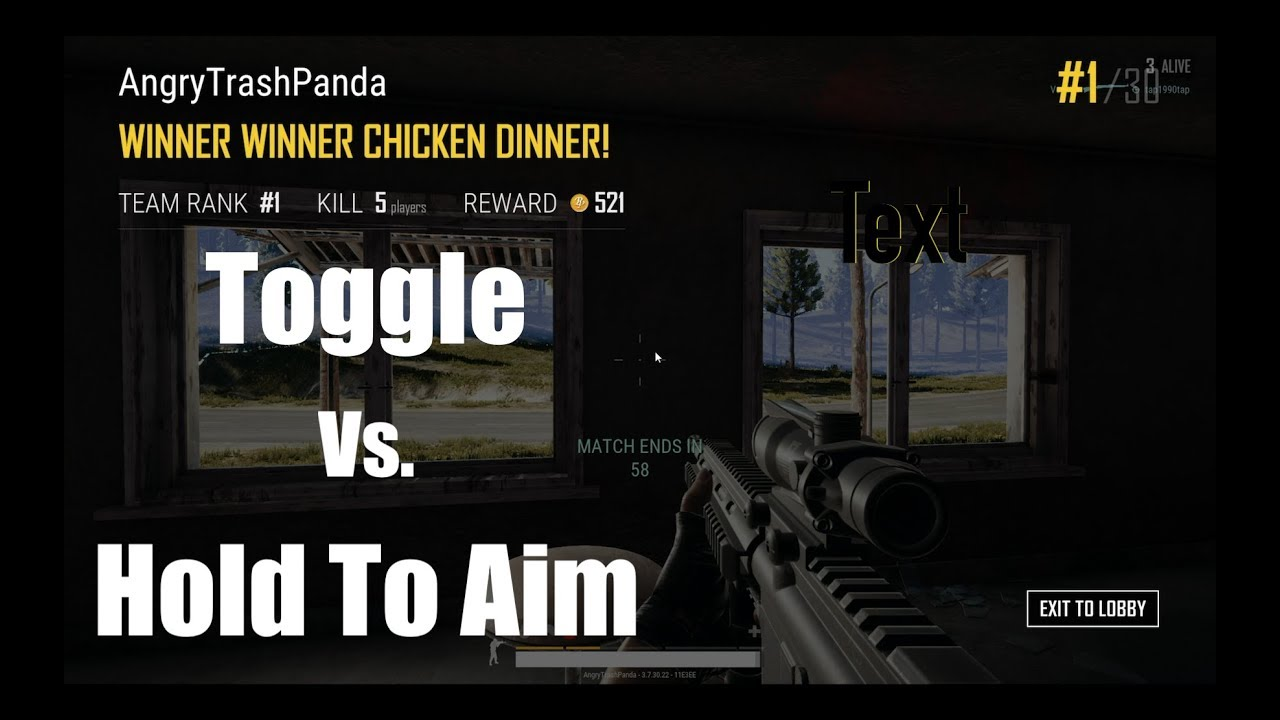 pubg hold to ads or toggle
