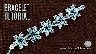 Frozen Flower Bracelet Tutorial by Macrame School