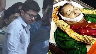 Actor Vijay pays homage to CM Jayalalitha