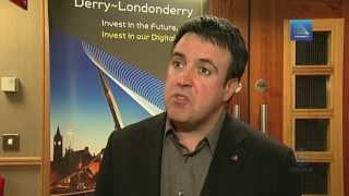 CIIR GERARD DIVER, DERRY CITY COUNCIL, GIVING A SPEECH AT ENGAGE CONFERENCE