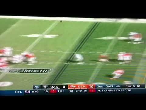 Raiders vs Broncos Darian Stewart gets beat deep