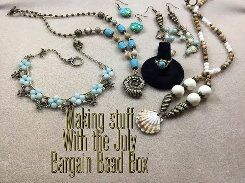 Making Stuff with the July Bargain Bead Box