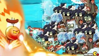Plants vs Zombies 2: Frostbite Caves Part 2 Icebound Battleground Level 63!