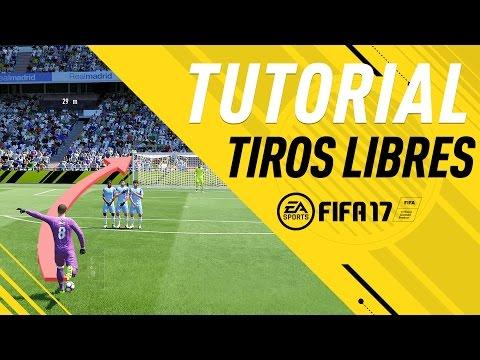 FIFA 17 TIROS LIBRES 3 DEDOS (EXTERIOR PIE) - TUTORIAL - R.CARLOS | COMO TIRAR FALTAS - FREE KICKS