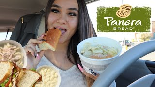 DELICIOUS PANERA BREAD MUKBANG | First Time Trying Panera Bread