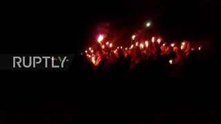 USA: Torch-lit rally held to protest Confederate statue removal