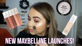 TRYING NEW MAYBELLINE 2018 LAUNCHES + SUPER STAY FOUNDATION WEAR TEST! | Makeupbytreenz