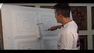 How to Repaint Polystyrene Ceiling Tiles - Talissa Decor