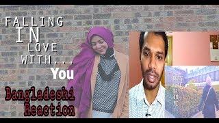 BANGLADESHI REACTION TO FALLING IN LOVE WITH YOU | SHILA AMZAH | LYRICS VIDEO