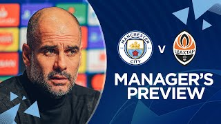 PRESS CONFERENCE | Pep Guardiola | Man City v Shakhtar Donetsk