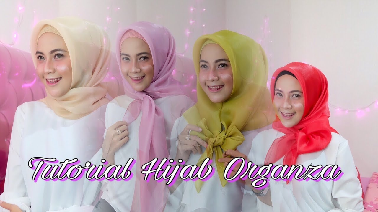 4 Style Simple Hijab Organza Square By Rya Thamrin YouTube