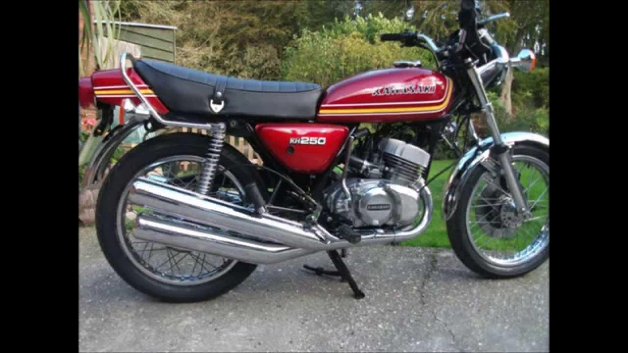 Kawasaki KH250 Restored Motorcycle from 1976 - YouTube