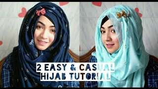 2 Easy & Casual Hijab Tutorial for the beginners ft Styline Collection | Pari ZaaD