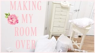 MAKING MY ROOM OVER!! shabby chic editon ♡