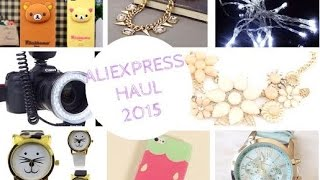 ALIEXPRESS HAUL/REVIEW 2015 | Ring Flash, Fairy Lights, Accessories and Phone Cases