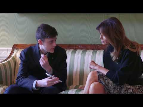 First Lady Melania Trump Meets with Marjory Stoneman Douglas HS Student Kyle Kashuv