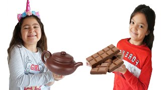 Masal and Öykü staged a chocolate challenge 2