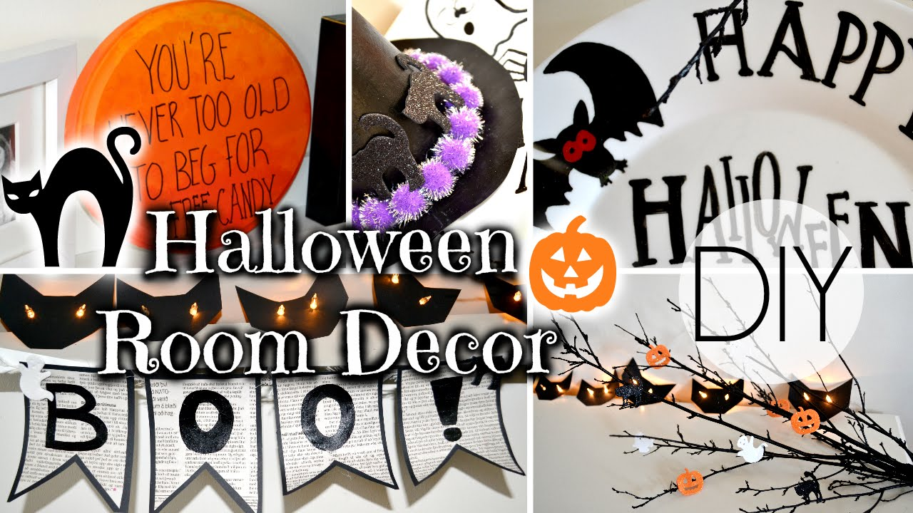 Decorating Ideas > DIY Halloween Room Decorations  YouTube ~ 232946_Halloween Room Decor Diy
