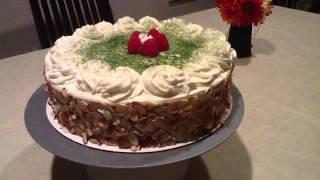 Green Tea Raspberry Almond Raspberry Cake