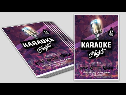 Flyer Karaoke Nigth - PHotoshop CC tutorial