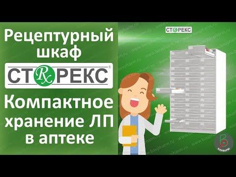 Рецептурный шкаф СТОРЕКС - шкаф для рецептурных препаратов в аптеке