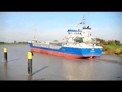 "Stückgutschiff ""Tina"" in Papenburg / Cargo ship ""Tina"" in Papenburg (Germany)"
