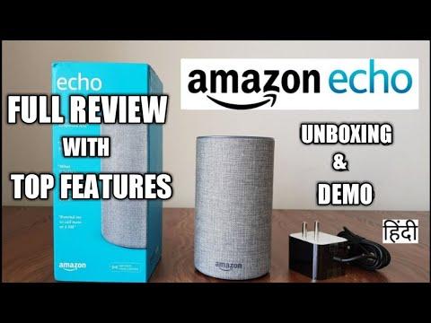 Amazon Echo (Alexa) Smart Speaker Unboxing & Set-Up In Hindi | Amazon Echo Top Features