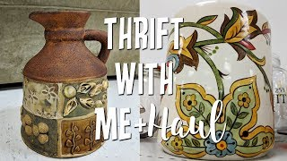 Goodwill Thrift with Me+Haul-Home Decor & Book Hunting!