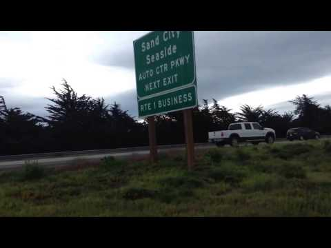 Ride into Seaside, California; simple observations; Discover homeless camps on the trail.