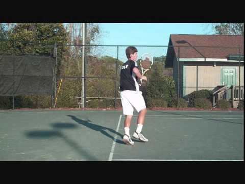 How To Hit Two Handed Open Stance Backhand Tennis - YouTube