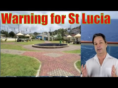Cruise Passengers held up in St Lucia