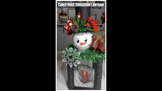 Tricia's Creations Christmas Snowman Lantern