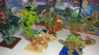 Полная коллекция минифигурок динозавров лего мир юрского периода.Видео про динозавров.