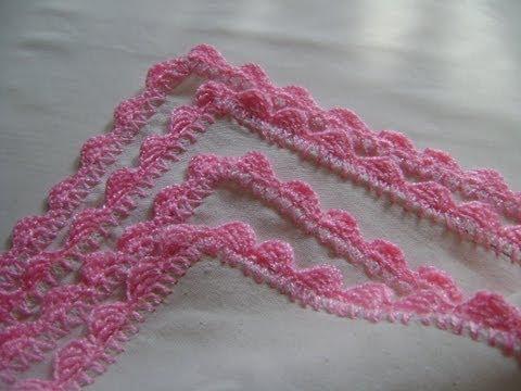 Puntilla 8 para principiantes en crochet youtube - Hacer puntillas de ganchillo ...