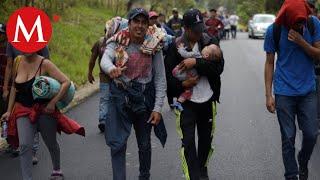 Nueva caravana migrante llega a frontera sur de México