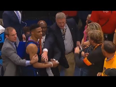 Russell Westbrook Almost Fights Jazz Fan (VIDEO)