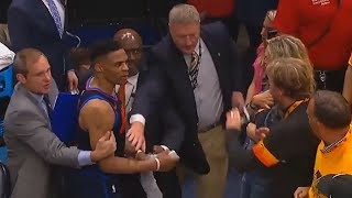 Russell Westbrook Almost Fights Jazz Fan For Taunting Him!