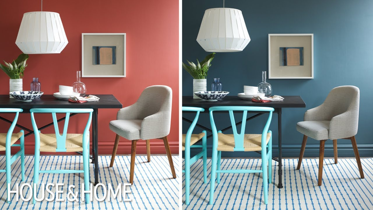 Paint Colors That Flow From Room To Room Interior Design One Dining Room Two Different Wall Colors