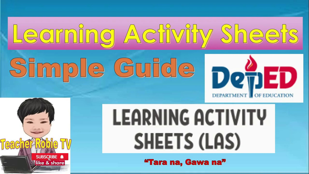 medium resolution of Learning Activity Sheets LAS - YouTube