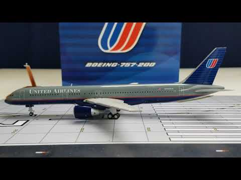 JC Wings 200 United Airlines B757-200(Battleship Grey Livery)Review FHD(Full High Definition)