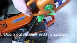 How to refuel your power cutter
