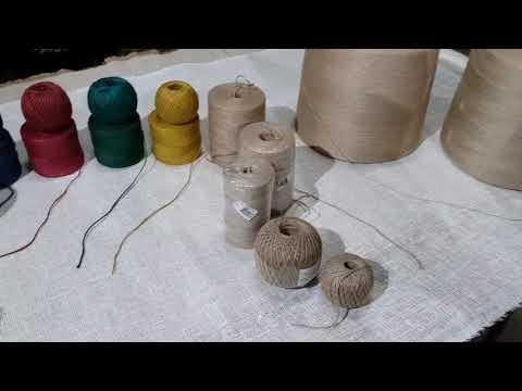 Джутовый шпагат или джутовая пряжа разновидности и где используется