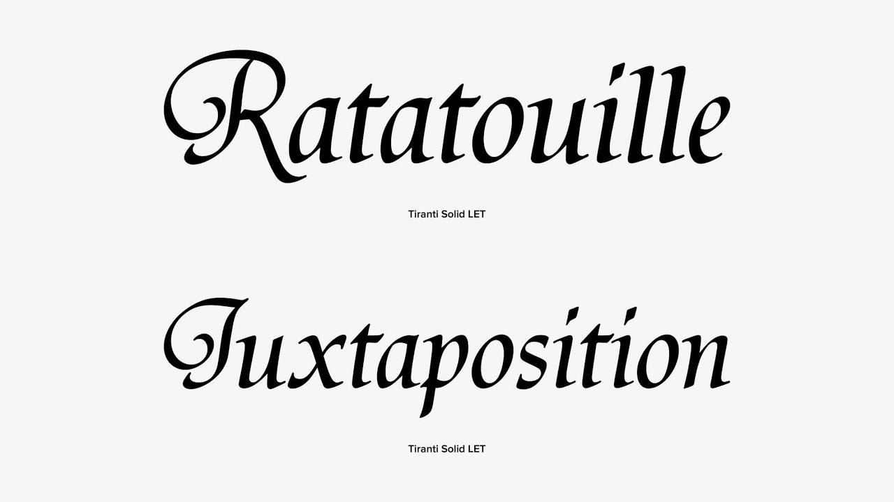 tiranti solid let font