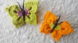 Объемная бабочка Volumetric butterfly crochet