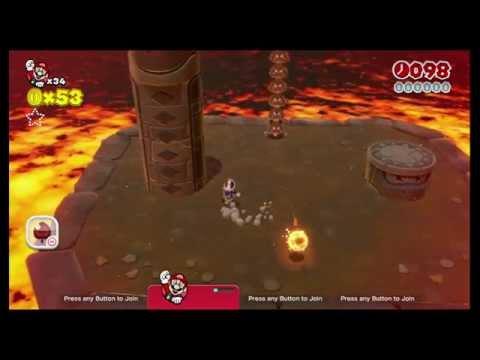Super Mario 3D World (Wii U) - World 5-B, Fire Bros. Hideout #2 (2014-08-18) (score 016500)