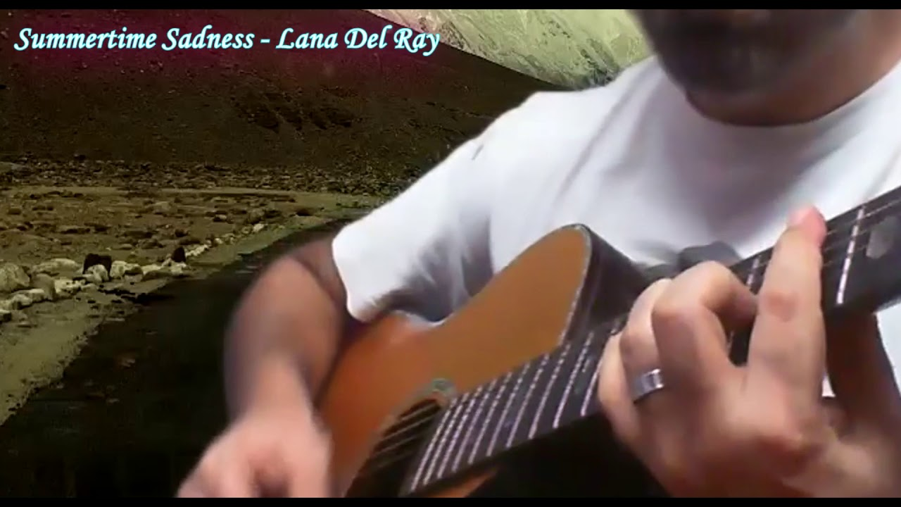 Summertime sadness fingerstyle acoustic guitar cover
