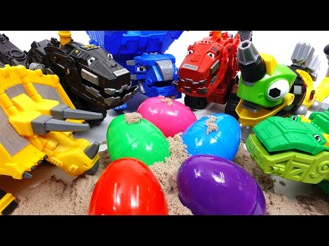 Thumbnail: Trux It Up~! Let's Open Surprise Eggs With Dinotrux
