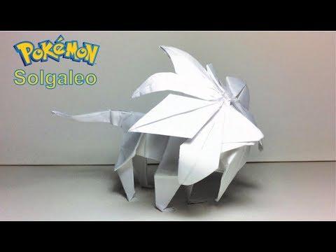 Pokemon Origami Pokemon Solgaleo By Paperph2 Youtube